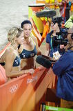 Rio2016 Gold medalists Laura Ludwig and Kira Walkenhorst Royalty Free Stock Image