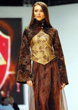 Laura Olteanu Collection on Catwalk at Bucharest Fashion Week Show Stock Photo