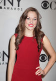 Laura Osnes. Actress Laura Osnes, appearing in the Broadway musical Bonnie and Clyde, was nominated for a Tony Award. Here she appears at the Meet the Nominees stock photos