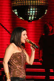 Laura Pausini. Singer Laura Pausini during a concert in Milan, Italy Stock Photo