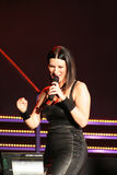 Laura Pausini. Singer Laura Pausini during a concert in Milan, Italy Royalty Free Stock Photos