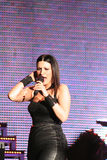 Laura Pausini. Singer Laura Pausini during a concert in Milan, Italy Stock Photography