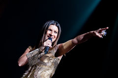 Laura Pausini live in London. LONDON, UK - 22th MAY 2012: Laura Pausini performs live at the Royal Albert Hall. Laura Pausini is a grammy-award winning Italian Royalty Free Stock Photos