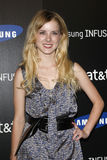 Laura Slade die Wiggins in Samsung aankomt giet 4G voor de Gebeurtenis van de Lancering van AT&T Royalty-vrije Stock Afbeeldingen