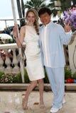 Laura Weissbecker et Jackie Chan image libre de droits