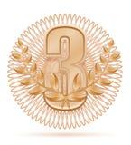 Laureate wreath winner sport bronze stock vector illustration Stock Images