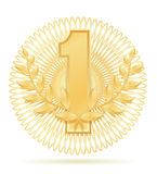 Laureate wreath winner sport gold stock vector illustration Stock Photo