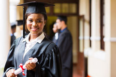 Laureato africano dell'università Immagine Stock Libera da Diritti