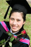 Laureato asiatico dell'università Immagine Stock