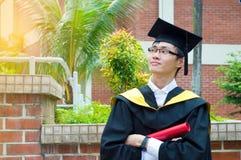 Laureato asiatico dell'università Immagine Stock Libera da Diritti