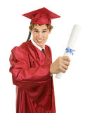 Laureato con il diploma Fotografia Stock