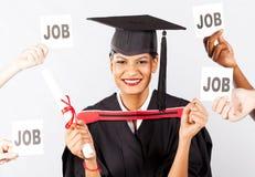 Laureato dell'indiano con le offerte di job Fotografia Stock Libera da Diritti