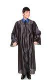 Laureato dell'istituto universitario - allievo felice emozionante Fotografia Stock Libera da Diritti