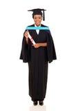 laureato femminile africano dell'università Fotografie Stock Libere da Diritti