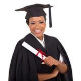 Laureato femminile dell'università Immagini Stock