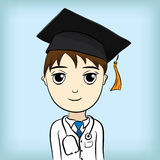 Laureato medico di istruzione Fotografie Stock