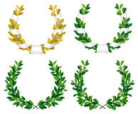 Laurel And Oak Wreaths Royalty Free Stock Photos