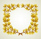 Laurel branch. Vector illustration. Laurel branch wreath. Vector illustration  EPS 10 Stock Photography