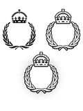 Laurel Crown. Laurel wreath symbol with crown stock illustration