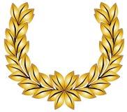 Laurel Crown de oro Fotografía de archivo libre de regalías