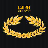 Laurel Crown. Greek Wreath With Golden Leaves. Vector Illustration Stock Photography