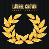 Laurel Crown. Greek Wreath With Golden Leaves. Vector Illustration Royalty Free Stock Images