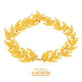 Laurel Crown Grinalda grega com folhas douradas Ilustração do vetor ilustração royalty free