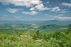 Laurel de montaña, Ridge Mountains azul y Shenandoah Valley Imagen de archivo libre de regalías