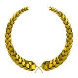 Laurel de oro 3d Imagen de archivo libre de regalías