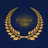 Laurel del oro para la graduación 2018 Fotografía de archivo libre de regalías