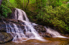 Laurel Falls, Great Smoky Mountains Stock Foto's