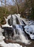 Laurel Falls nel parco nazionale di Great Smoky Mountains Fotografia Stock Libera da Diritti