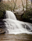 Laurel Falls in Smoky Mountains in snow Royalty Free Stock Image