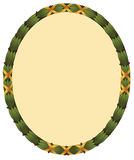 Laurel Frame. Classical Greek or Roman laurel wreath frame wrapped with gold metallic ribbons and holly berries stock illustration