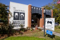 Laurel and Hardy Museum. The Laurel & Hardy Museum located in Harlem, Georgia is sedicated to the one of world`s greatest comedy duos. The museum contains Stock Image