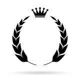 Laurel heraldic emblem Royalty Free Stock Photos