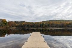 Laurel Lake Recreational Area in Pine Grove Furnace State Park i. N Pennsylvania during fall stock photography