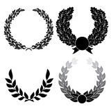 Laurel and oak wreath Royalty Free Stock Photo