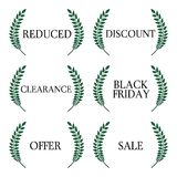 Laurel Sale Tags 1 Royalty Free Stock Photography