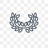 Laurel vector icon isolated on transparent background, linear La royalty free illustration