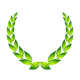 Laurel wreath. Tradition award, symbol vector illustration