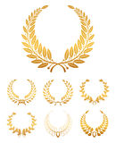 Laurel Wreath. Set of premium laurel wreaths, isolated on the white stock illustration