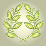 Laurel wreath. Crystal emblem of laurel wreath – symbol of victory Royalty Free Stock Photo