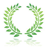 Laurel wreath. Leaf laurel wreath illustration isolated in white. An additional Vector .Eps file available. (you can use elements separately vector illustration