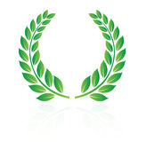 Laurel wreath. In white background vector illustration
