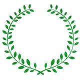 Laurel wreath. Illustration of a green laurel wreath isolated Stock Photos