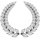 Laurel wreath royalty free illustration