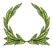 Laurel wreath. Vector color image isolated on white background Stock Image
