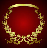 Laurel wreath. Design of a vector background in vintage style Royalty Free Stock Images