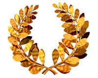 Laurel wreath. 3d illustration of a golden laurel wreath vector illustration